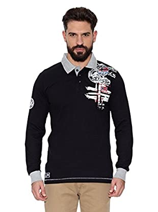 Geographical Norway Polo Manga Larga ML Karite Ls Men 401 (Negro)