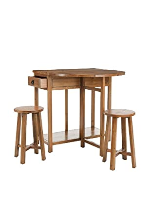 Safavieh Miles Bar Table & Stools, Medium Oak