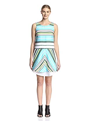 Beatrice B Women's Sleeveless Striped Dress