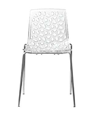 Euro Home Collection Dakota Chair, Clear