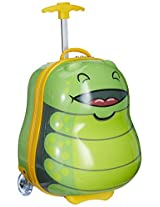 Sunbaby Bug Design Synthetic 41 cms Green Children's Luggage (SB-1020_Green)
