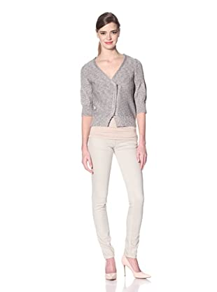 Zero Degrees Celsius Women's Metallic Cardigan (Gold/Blue/Sage)