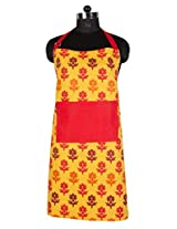 "PO BOX 100% Cotton 1 Apron Flower Story Yellow- 26""X32"""