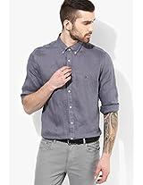 Blue Linen Regular Fit Casual Shirt Tommy Hilfiger