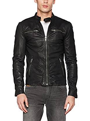 Superdry Giacca Pelle Real Hero Biker Jacket