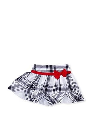 Monnalisa Girl's Plaid Skirt (Black/White)