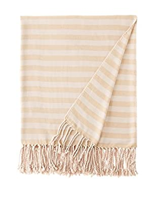 Nine Space Viscose from Bamboo Striped Throw Blanket (Mustard)