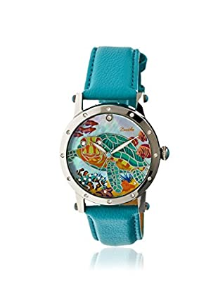 Bertha Women's BR4901 Chelsea Turquoise/Multicolor Leather Watch
