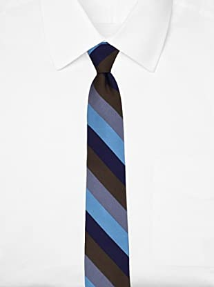 Ben Sherman Men's Royal Stripe Tie, Aqua