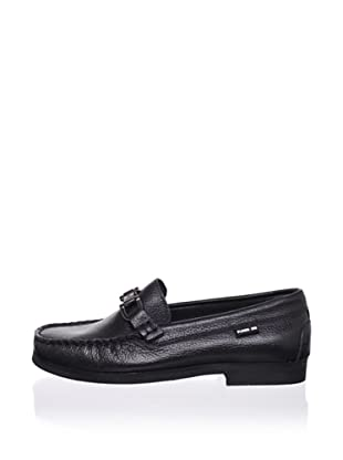 Pliner Jrs Maximo Loafer (Black pebbled)