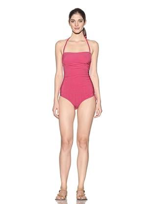 Nina Ricci Women's Nouvelle Vague Ruched One-Piece Swimsuit (Fuchsia)