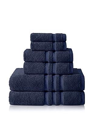 Chortex of England Irvington 6-Piece Towel Set, Navy