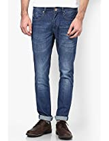 Navy Blue Skinny Fit Jeans Freecultr