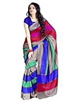 Alethia Multicolor Art Silk Casual Wear Printed Sarees With Blouse Piece