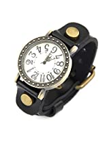 Ashiana Stylish Black Leather Watch ( unisex )
