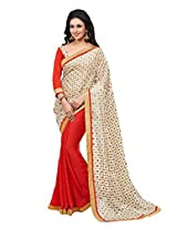 Rajnandini Georgette Saree With Blouse Piece (Joplsalsrngi117 -Multi-Coloured)