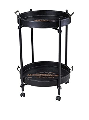 Artistic French Chateau Tray Table, Black