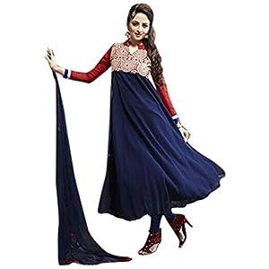 Bhuwal Fashion Dark Blue Faux Georgette Long Anarkali Salwar Suit