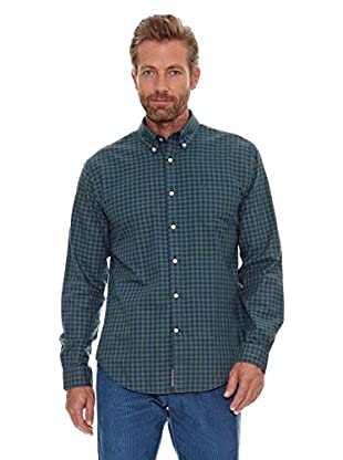 Cortefiel Camisa Oxford (Verde Oscuro)