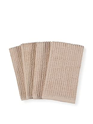 KAF Home Set of 4 Deluxe Bar Mop Dish Cloths, Oatmeal