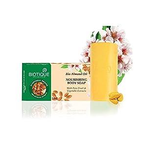 Biotique Bio Almond Oil Nourishing Body Soap, 150g (Pack of 3)