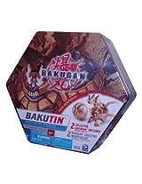 Cartoon Network Bakugan Battle Brawlers Bakubronze Series BROWN Bakutin Set with 2 Collector Bakugan (Bakugan May Vary) 5 Ability Cards 5 Metal Gate Cards 2 Removable Trays and Bakugan Storage Tin