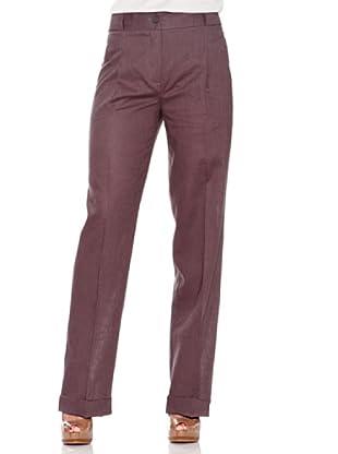 Caramelo Pantalón Cintura Alta (Granate)