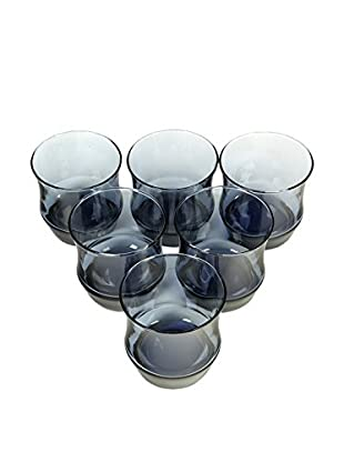 1960s Set of 6 Periwinkle Blue Tumblers, Blue