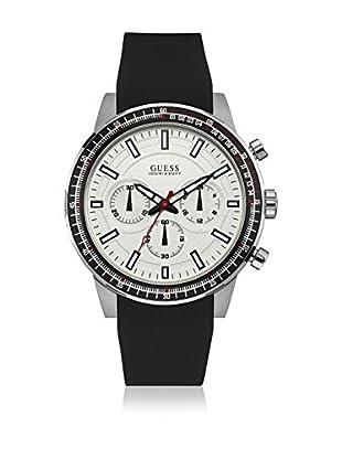 Guess Uhr mit japanischem Mechanikuhrwerk Man Fuel Silver Tone silberfarben 46 mm