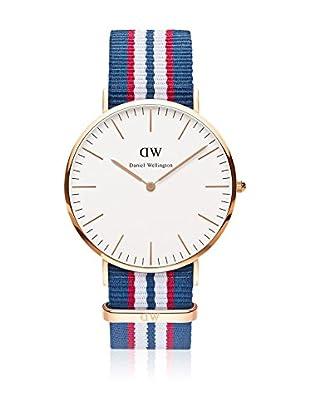 Daniel Wellington Reloj con movimiento cuarzo japonés Man Belfast Blanco/gris 40 mm