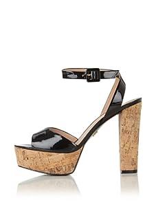 Pour La Victoire Women's Nasha Platform Sandal (Black Patent)