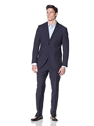 Lubiam Studio Men's Pinstripe Suit (Navy)