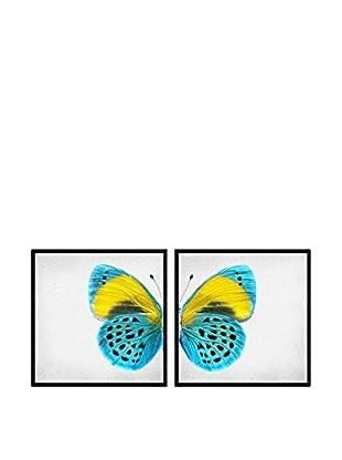 Really Nice Things Bild 2 er Set Butterflies blau