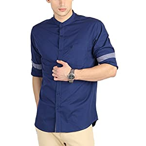 Allen Solly Men's Slim Fit Cotton Shirt [25229_Blue_38]