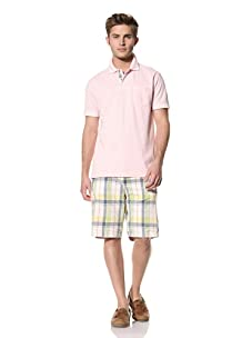 Tailor Vintage Men's Garment-Dyed Polo (Pink)