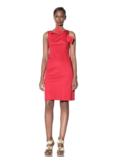 Moschino Cheap and Chic Women's Sheath Dress with Shoulder Detail (Red)