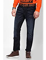 Blue Low Rise Slim Fit Jeans French Connection