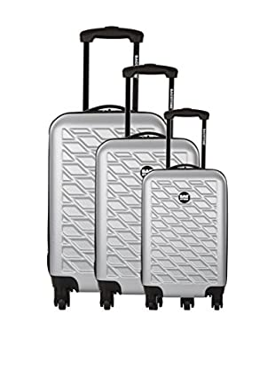 Bag Stone Set de 3 trolleys rígidos Eden Plata