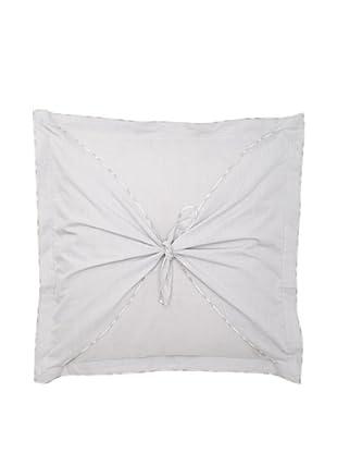 Belle Epoque Flower Wave Loop Toss Pillow, Grey