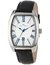 Lucien Piccard Men's 10029-023S Grivola Ortlet Silver Dial Black Leather Watch