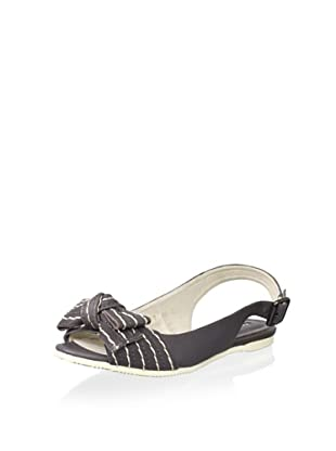 ALL BLACK Women's Kid Bow Slingback Sandal (Grey)