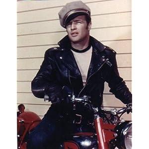 ブロマイド写真★『乱暴者』マーロン・ブランド/カラー/バイクに乗る