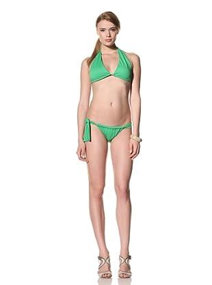 diNeila Women's Triangle Bikini Top & Bottoms (Iguana)