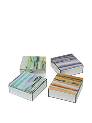 Three Hands Set of 4 Assorted Mirrored Boxes