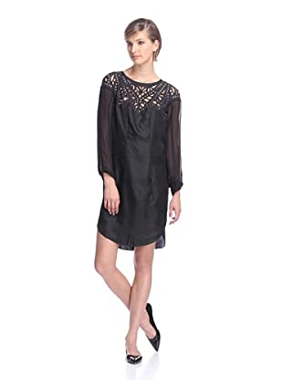 Spencer Lacy Women's Wonder Laser Cut Dress (Black)