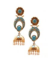 Gold/Turquoise Earring