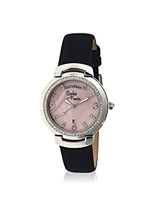 Sophie and Freda Women's SF4003 New Orleans Black/Light Pink Leather Watch