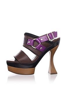 MARNI Women's Slingback Platform Sandal (Coffee)