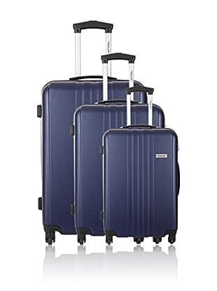Travel ONE Set de 3 trolleys rígidos Burnley Azul