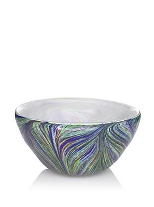Badash Art Glass Renoir Bowl, Blue Multi